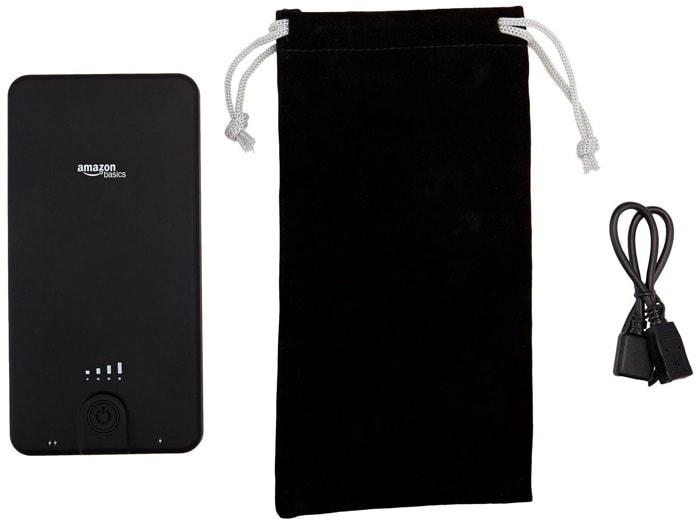 AmazonBasics - Cargador de batería externo portátil (10.000 mAh)