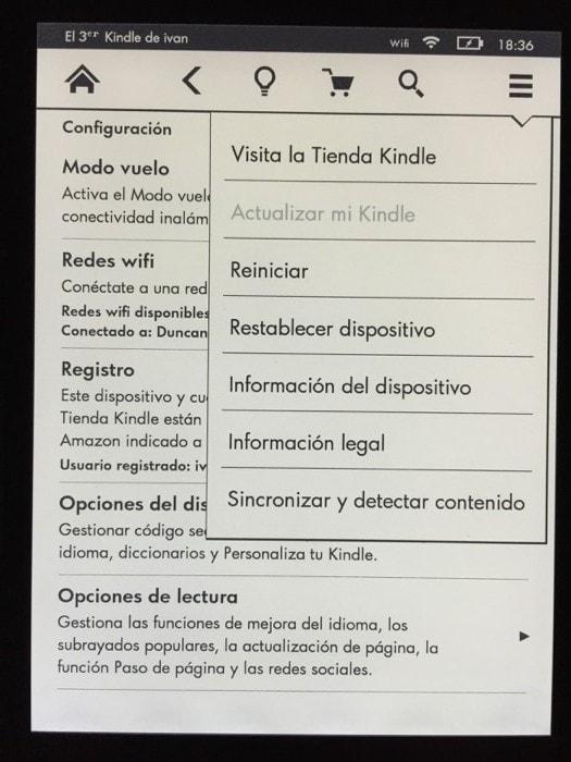 Kindle Voyage actualización