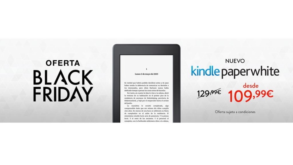 BLACK FRIDAY: Nuevo Kindle Paperwhite por 109.99 euros