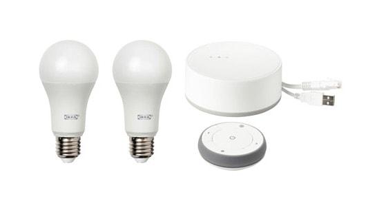 Las mejores bombillas inteligentes inalámbricas LED: IKEA TRÅDFRI - Kit entrada de iluminación inteligente, espectro blanco, blanco