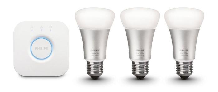 Philips Hue - Kit básico de 3 bombillas, E27, elige entre 16 millones de colores