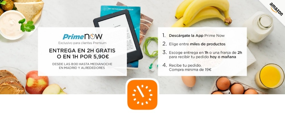 El servicio Prime Now de Amazon España llega a Madrid: código promocional de 10€