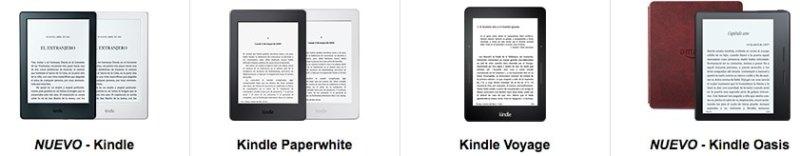 eReaders Kindle Amazon España 2016