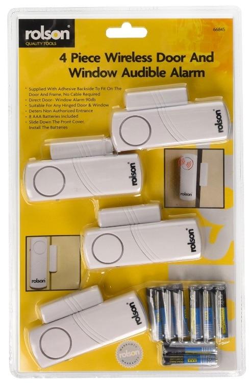Rolson 66845 - Alarma inalámbrica para ventanas y puerta