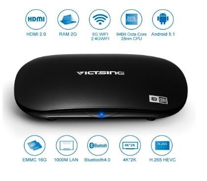TV Box de VicTsing, Streaming Media Player (Octa-Core y Android 5.1)