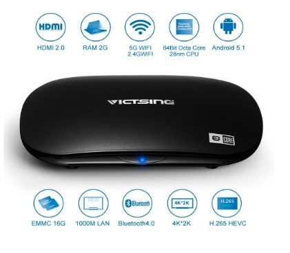 TV Box de VicTsing, Streaming Media Player (Octa-Core y Android 5.1)