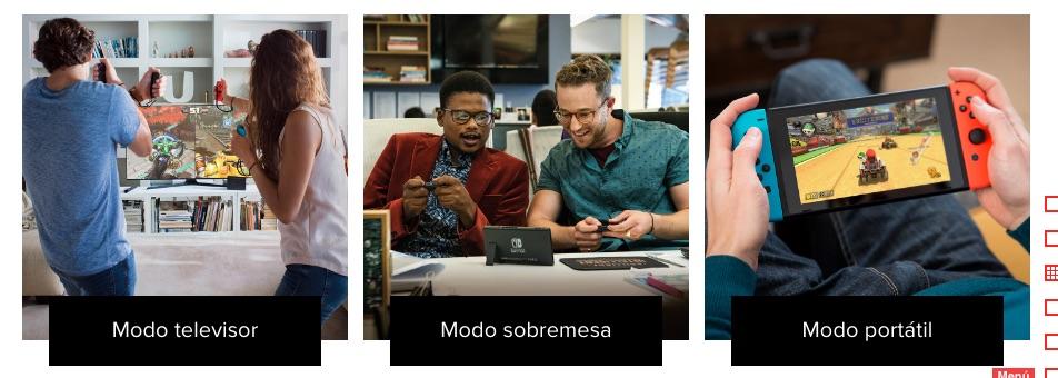 Los 3 modos de juego de Nintendo Switch