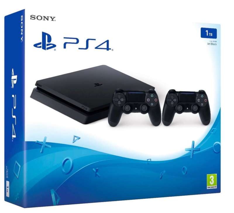 Pack Playstation 4 (PS4) con dos mandos:Playstation 4 1 TB D Chassis Slim + 2° Controller Dualshock Wireless