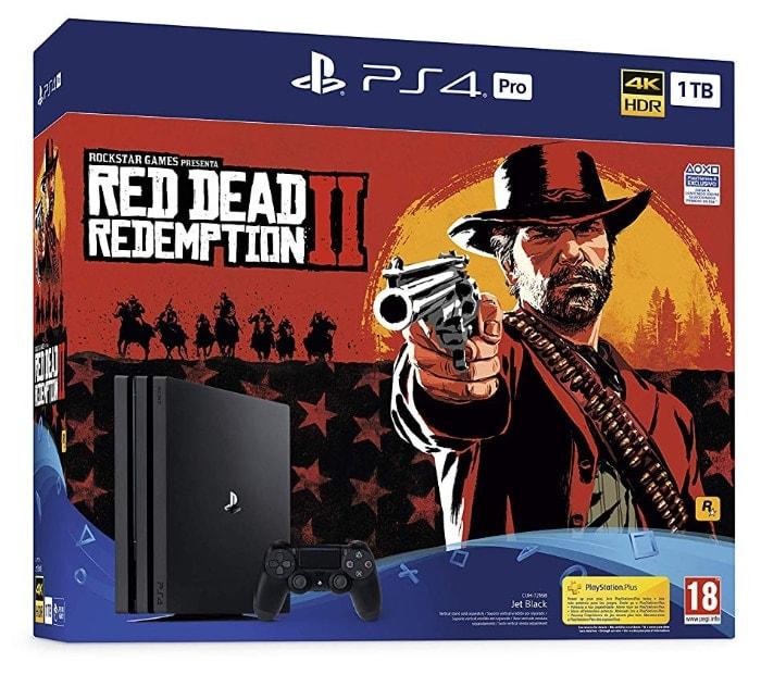 PlayStation 4 Pro (PS4) - Consola de 1 TB + Red Dead Redemption II
