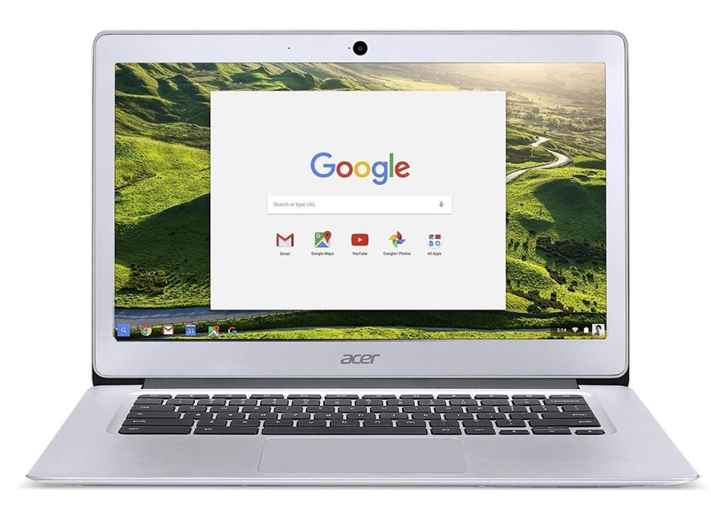 Chromebook Acer, procesador Intel Celeron, RAM de 4 GB, HDD de 32 GB eMMC, tarjeta gráfica Intel HD