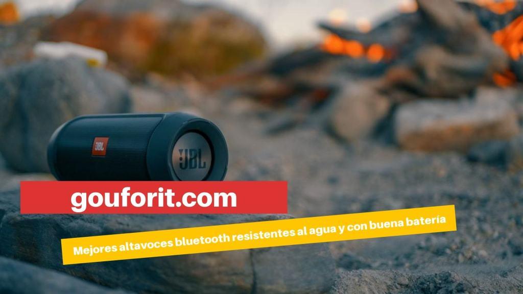 mejores altavoces bluetooth resistentes al agua y con una excelente duración de batería
