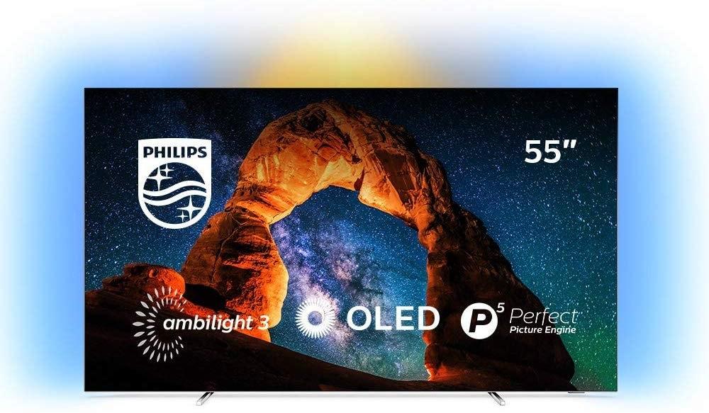 Televisor Philips Ambilight 55OLED803/12 con 4K UHD