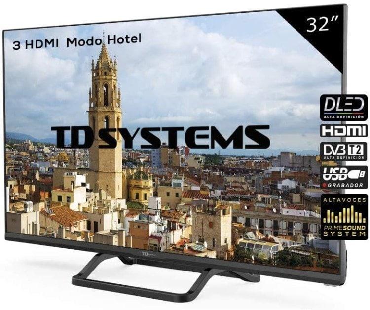TD Systems K32DLX9H - Televisor Led 32 Pulgadas HD