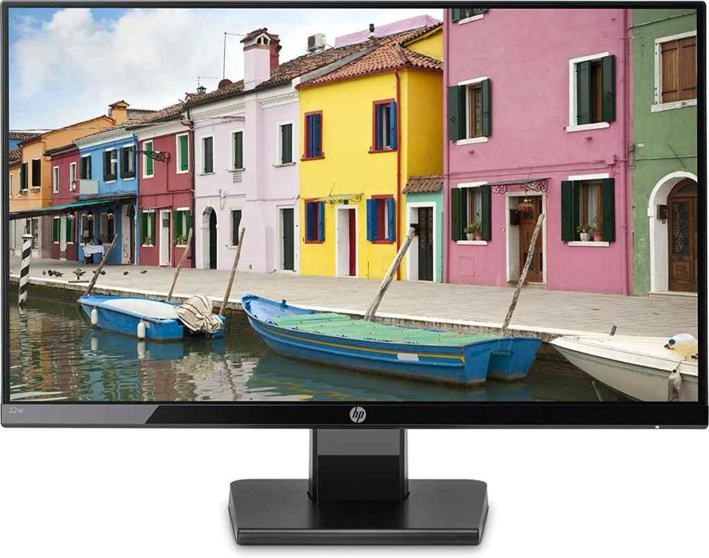 """HP 22w - Monitor 21.5"""" (Full HD, 1920 x 1080 pixeles, tiempo de respuesta de 5 ms, 1 x HDMI, 1 x VGA, 16:9)"""