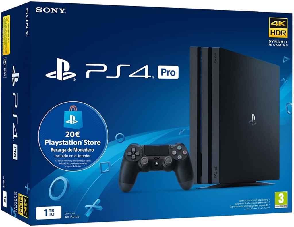 Sony Playstation 4 Pro (PS4) Consola de 1TB + 20 euros Tarjeta Prepago (Edición Exclusiva Amazon)