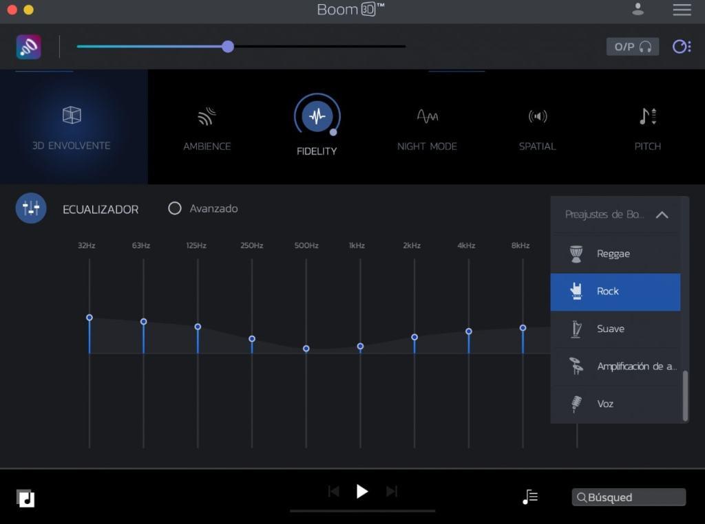 boom 3d: perfiles de sonido