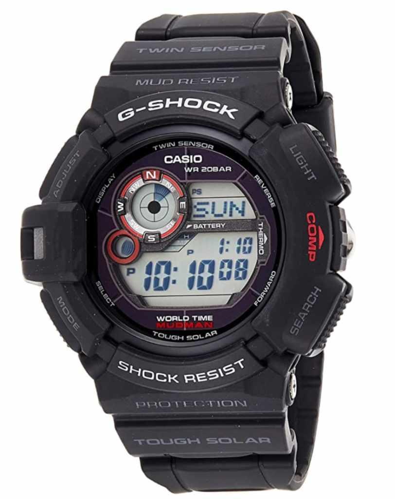Casio G-Shock G9300-1ER Mudman: Reloj clásico con sensores realmente barato (brújula y termómetro)