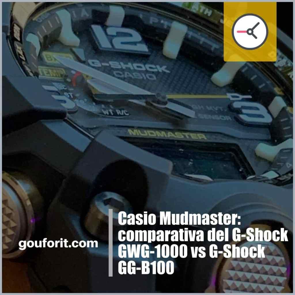 Comparativa funcionalidades y características Casio G-Shock GWG-1000 y Casio G-Shock GG-B100