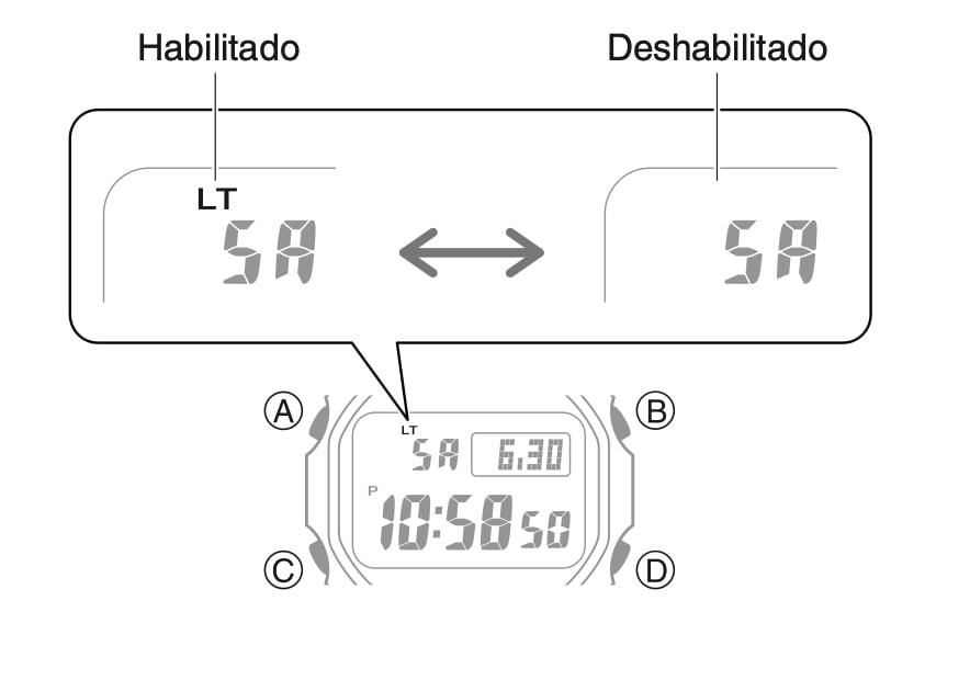 ¿Cómo se desactiva la luz automática en un reloj Casio G-Shock?