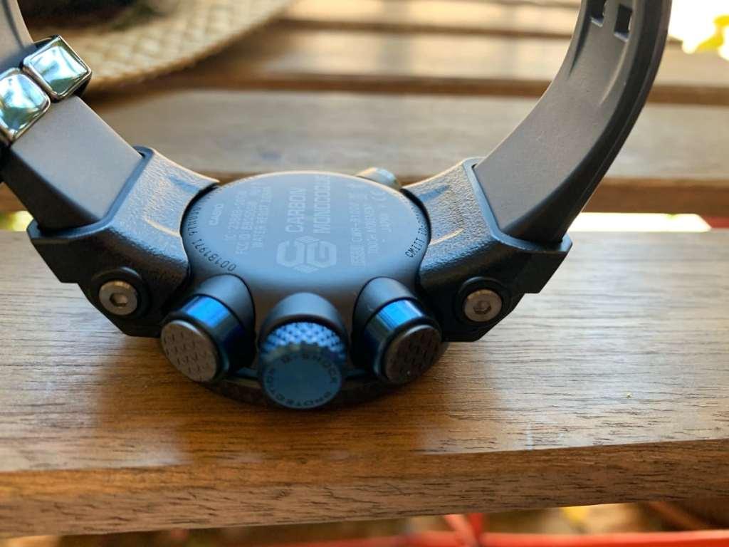 Casio G-Shock GWR-B1000 Gravitymaster: parte trasera
