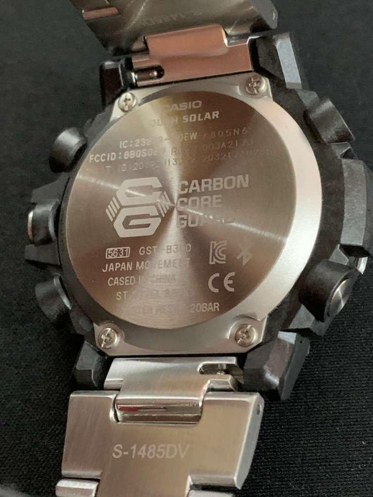 Casio G-Shock GST-B300: parte trasera