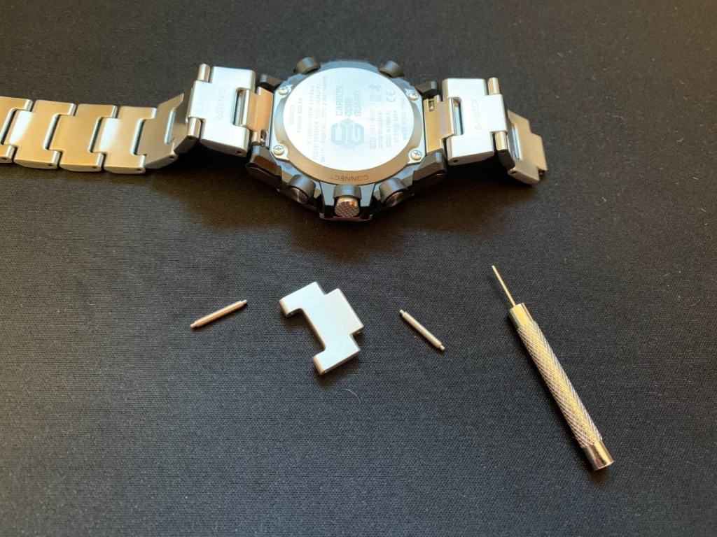 Casio G-Shock GST-B300: correa de metal y eslabones