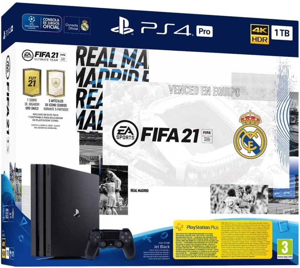 PlayStation 4 Pro (PS4) - Consola de 1 TB + FIFA 21, Edición Real Madrid