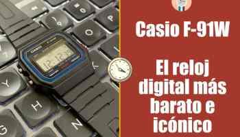 Casio F-91W: el reloj digital más barato e icónico - review y opinión