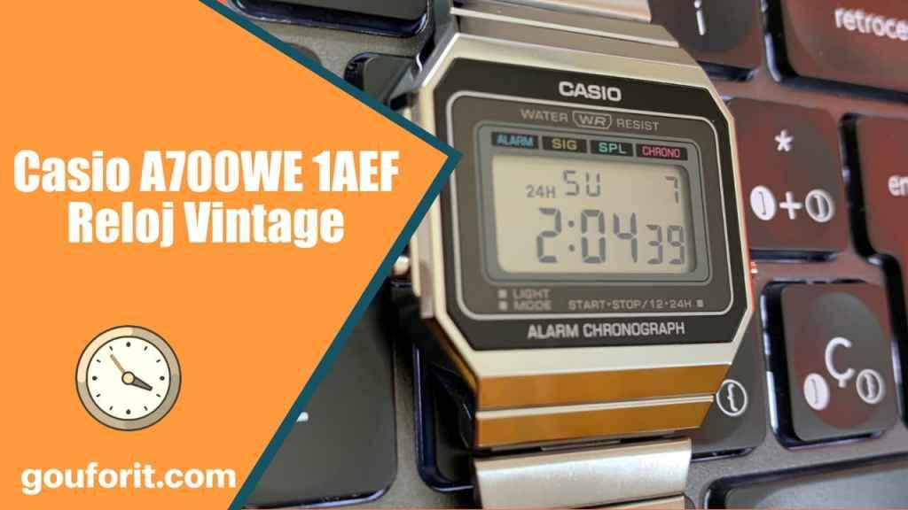 Casio A700WE 1AEF - Reloj Vintage estilo años 80 - Opinión y review