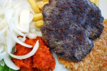 Pljeskavica and Šopska salata