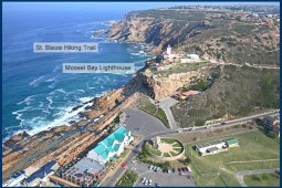 Arial picture of the Point in Mossel Bay
