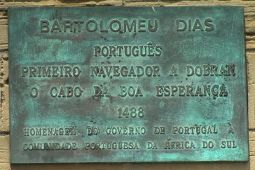 Plaque commemorating the arrival of Bartolomeu Dias in Mossel Bay