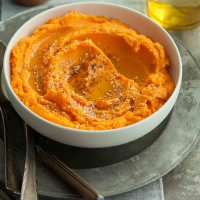 Tahini Mashed Sweet Potatoes (Paleo, Vegan)