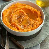 Tahini Mashed Sweet Potatoes (Paleo, Vegan)