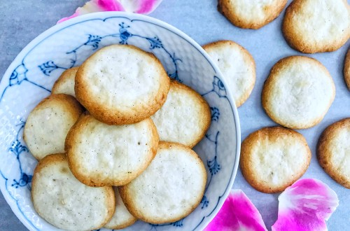 Rose water butter cookies - great for tea or champagne