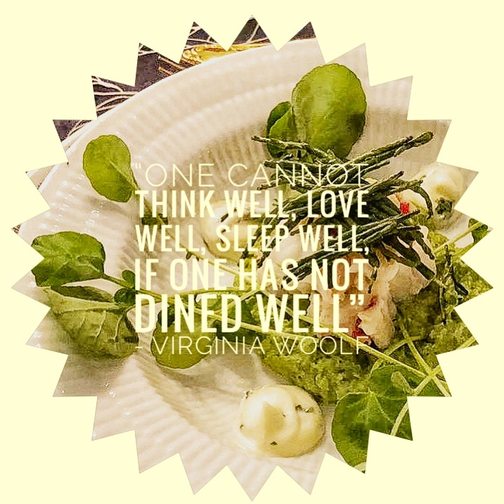 Famous food quote by Virginia Woolf