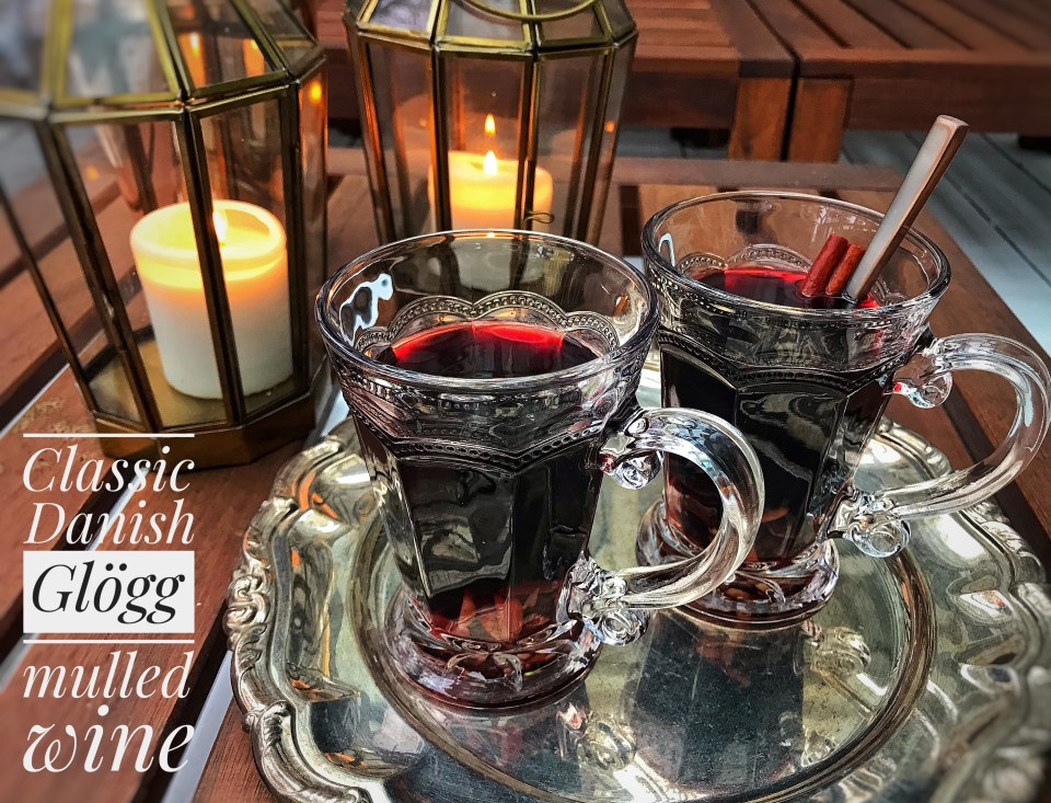 Danish mulled wine, or, Glögg recipe. Great pairing with Danish Christmas cookies