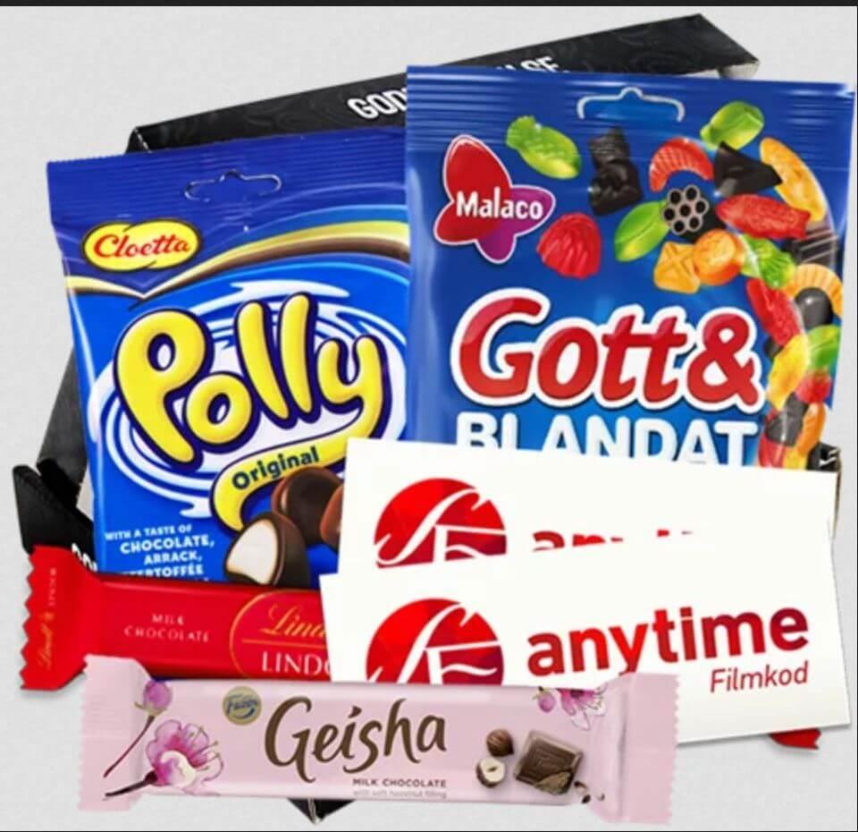 Godteripakke med svenske godis-klassikere