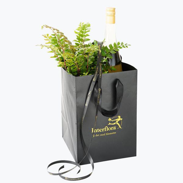 Eplecider og plante gavepakke