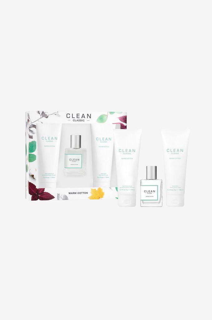 Presentbox med kosmetika från 'Clean'