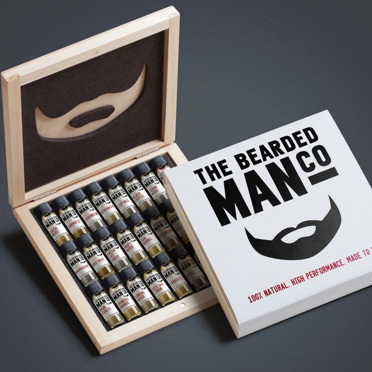 Presentask till mannen med skägg
