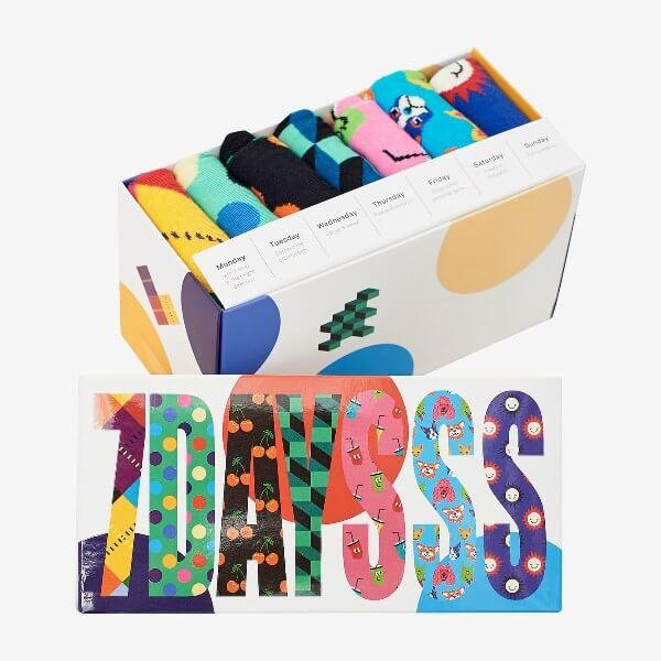 Presentbox med roliga strumpr från Happy socks