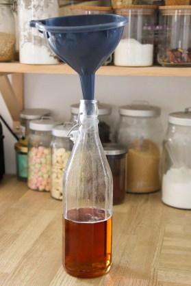 Mise en bouteille du sirop