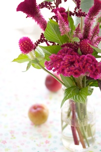Flowers and plums