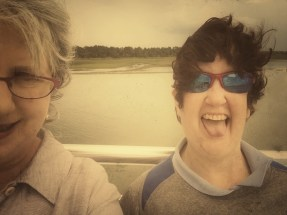 Michelle and sister Buffy on the ferry