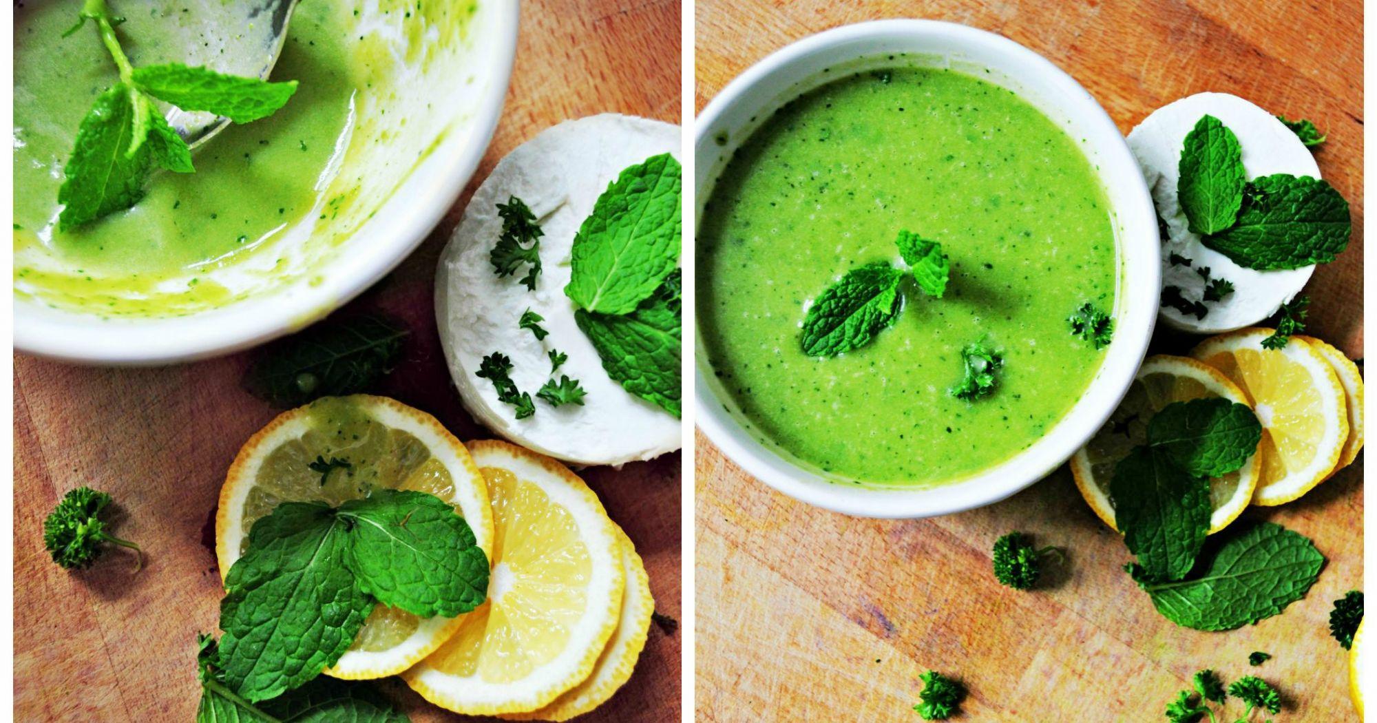 Pea Gazpacho With Mint Recipe
