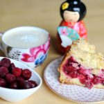 Gluten-free Vanilla Cream Cherry Pie with Almond-Streusel