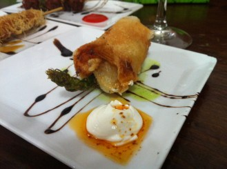 Prawn & Asparagus roll @ Bar Astelena