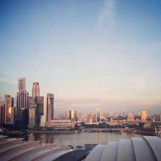 View from the room at Marina Bay Sands