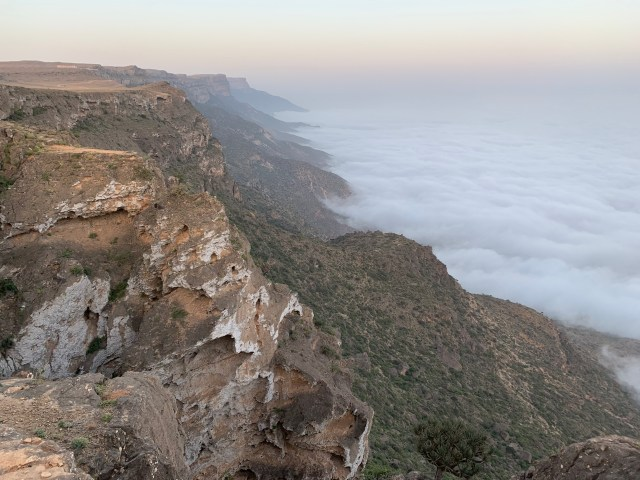 Jebel Samhan khareef clouds